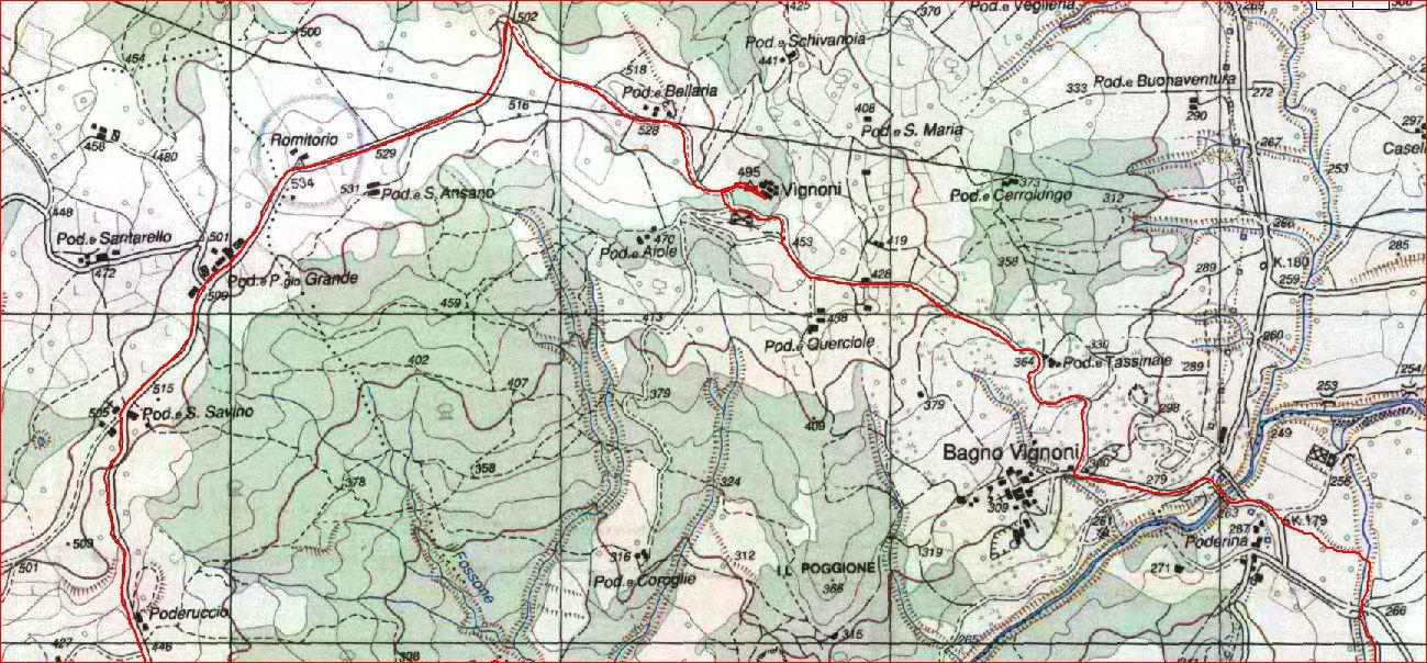 Anello – Bagno Vignoni – Vignoni – Ripa D\'Orcia – Rocca d\'Orcia